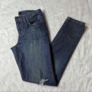 Calvin Klein Medium Wash Distress Boyfriend Jeans
